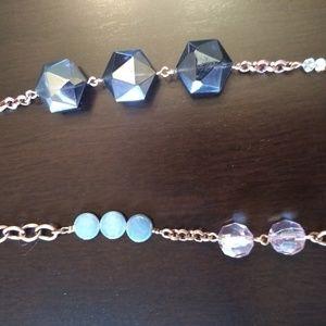 Lia Sophia Copper Blues/Grey'/Pale Pink Multi Bead